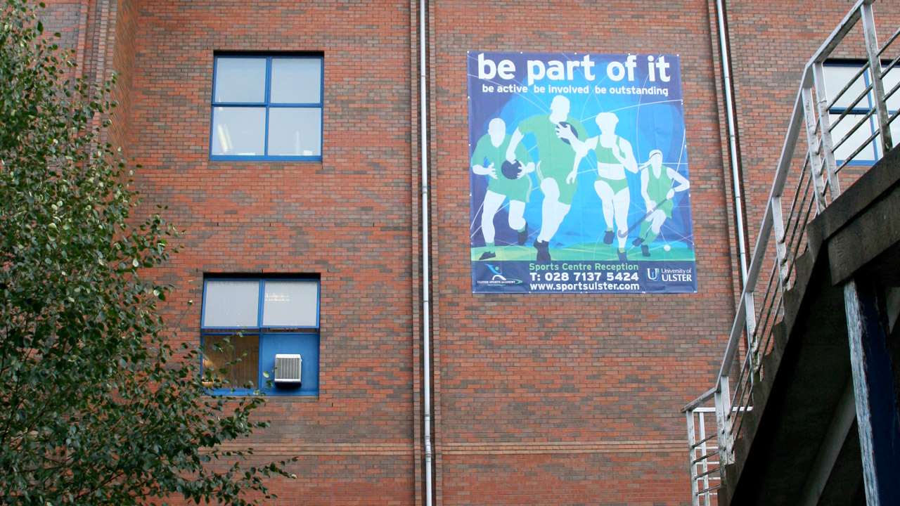 Ulster Sports Academy Exterior Advertising