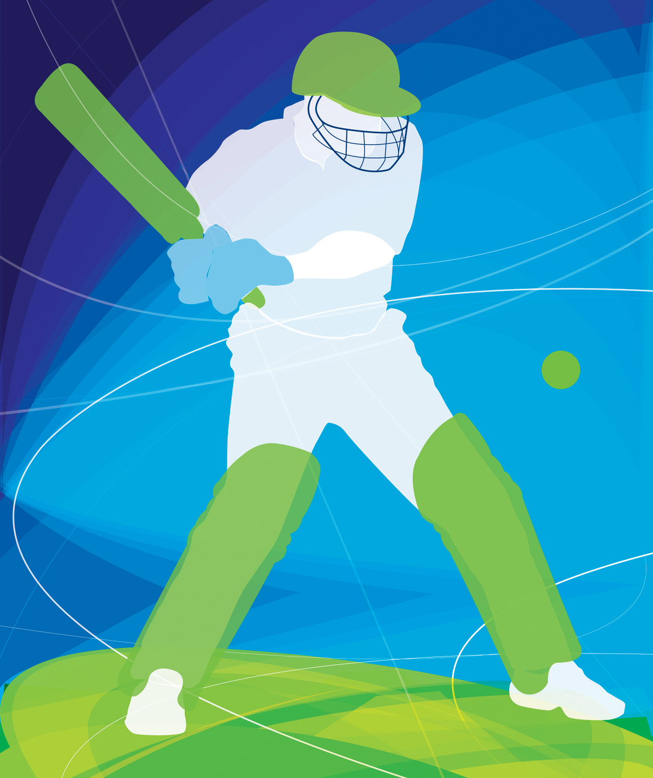 Ulster Sports Centre Cricket Illustration
