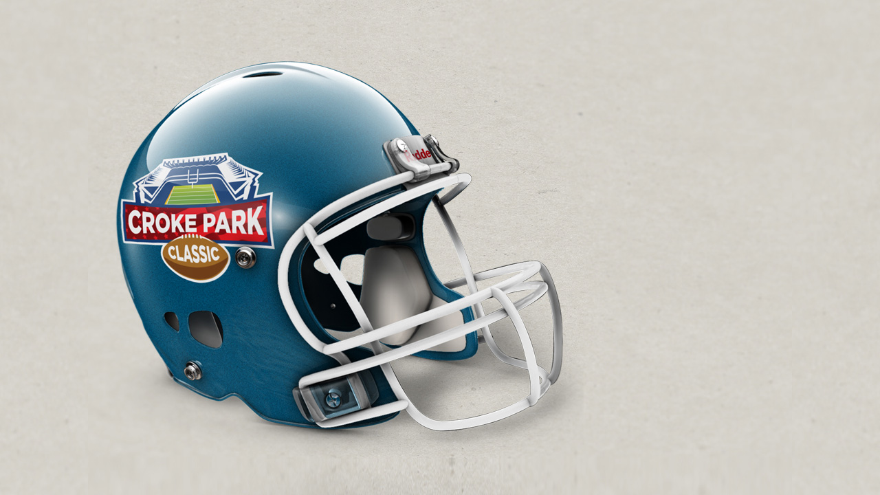 Croke Park Classic 2014 Branding on Helmet