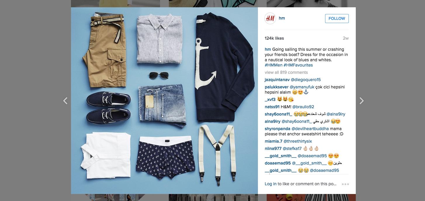 H&M Instagram