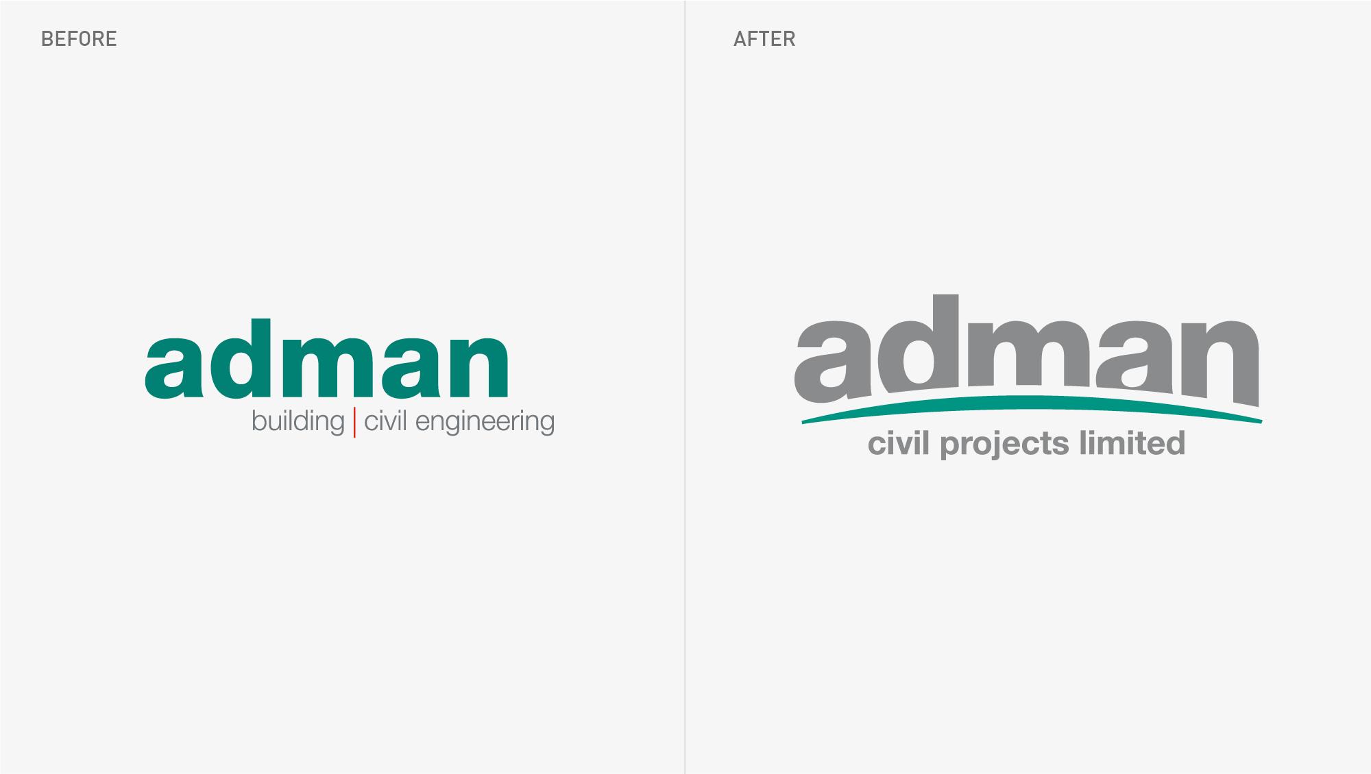 Adman Civil Projects Branding