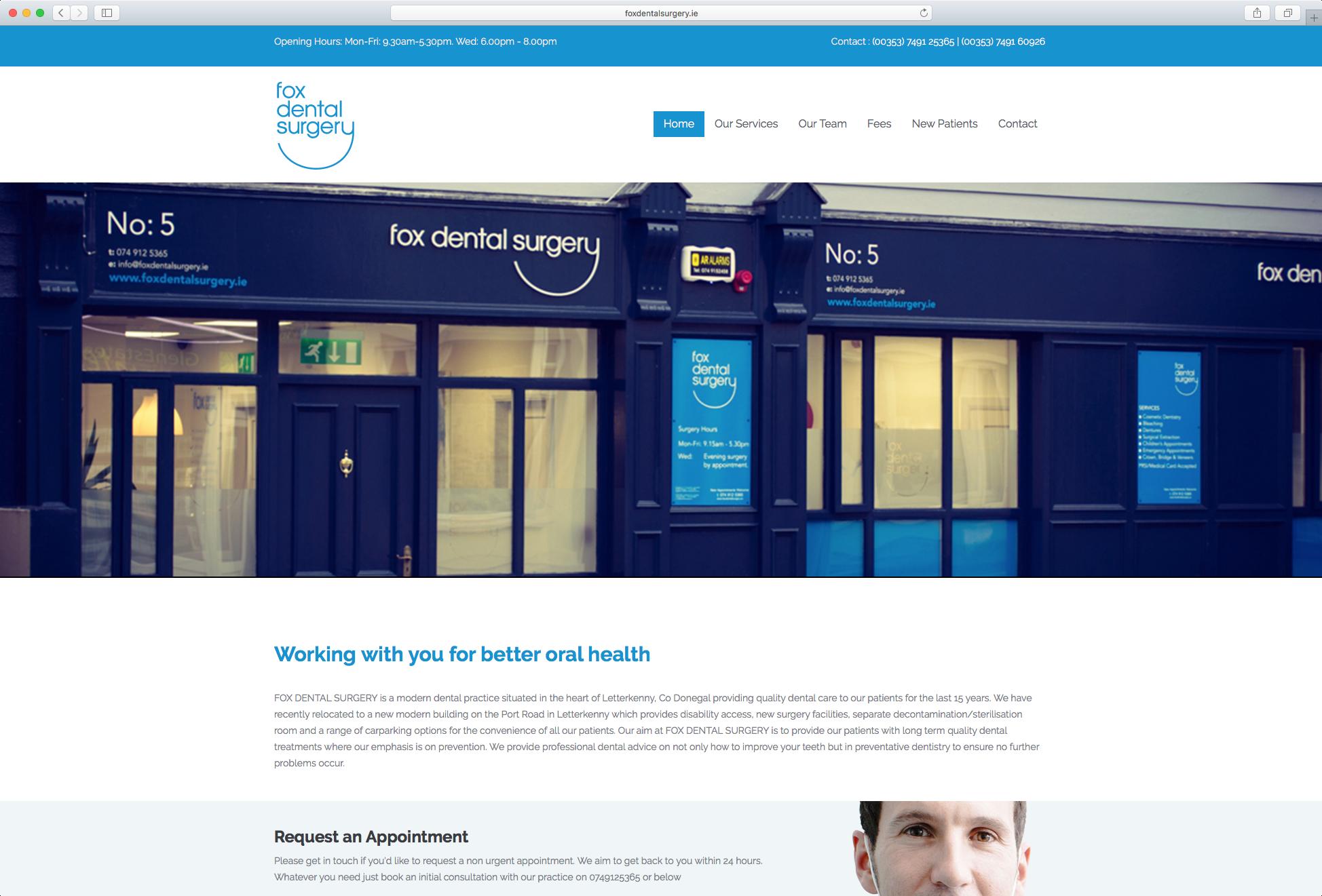 Fox Dental Surgery Website