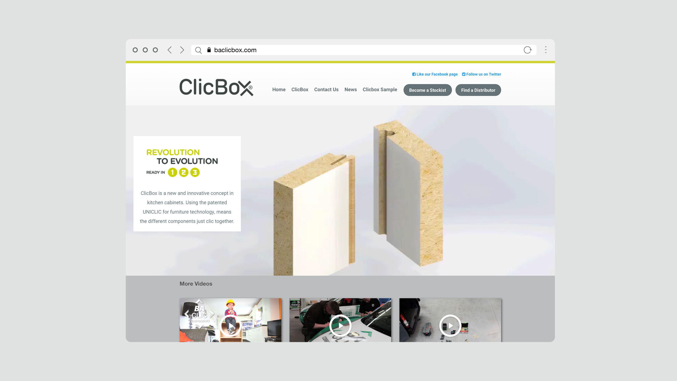 ClicBox Showroom Cabinets