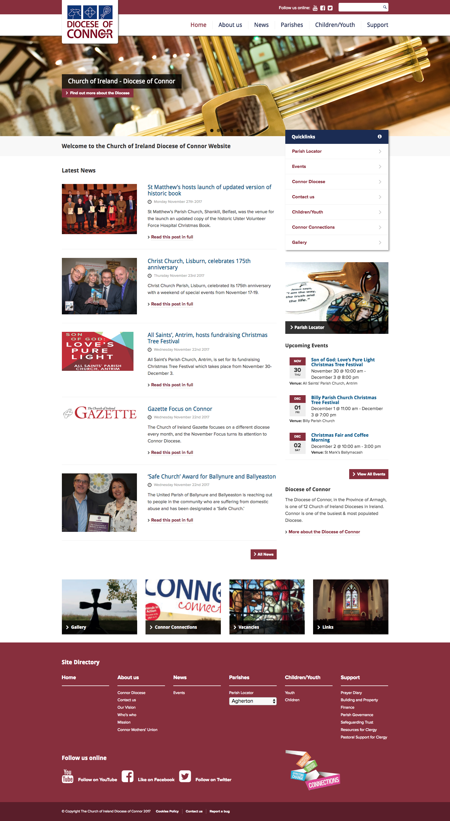 Diocese of Connor Homepage View