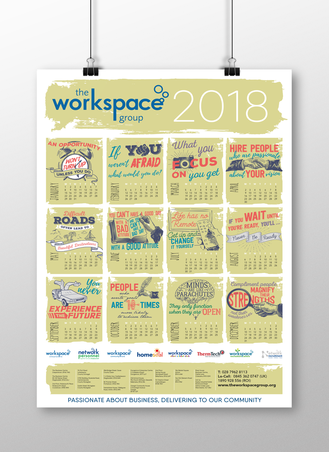 The Workspace Group - 2018 Calendar A2 Poster