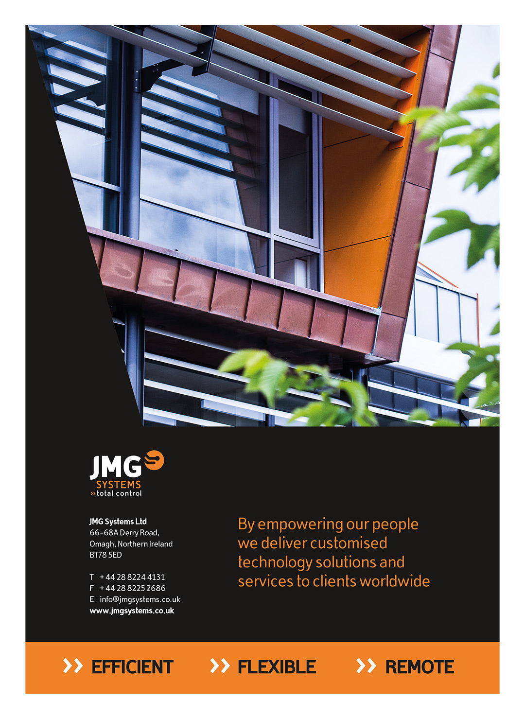 JMG Systems Brochure Back Cover