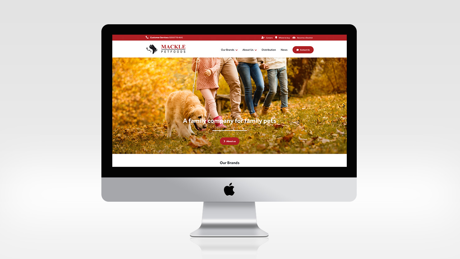 Mackle Pet Foods Homepage by LD2